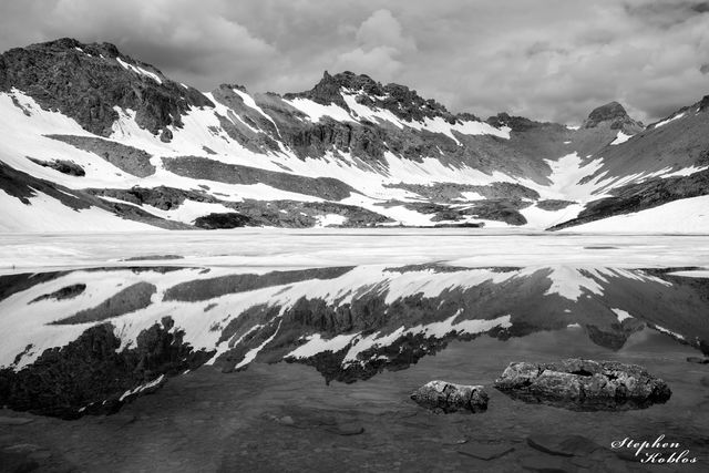 columbine lake, ice