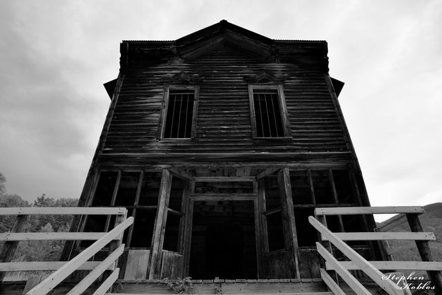 ghost town, Ashcroft, building