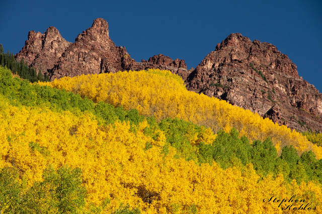 Snowmass In Fall , Changing Colors
