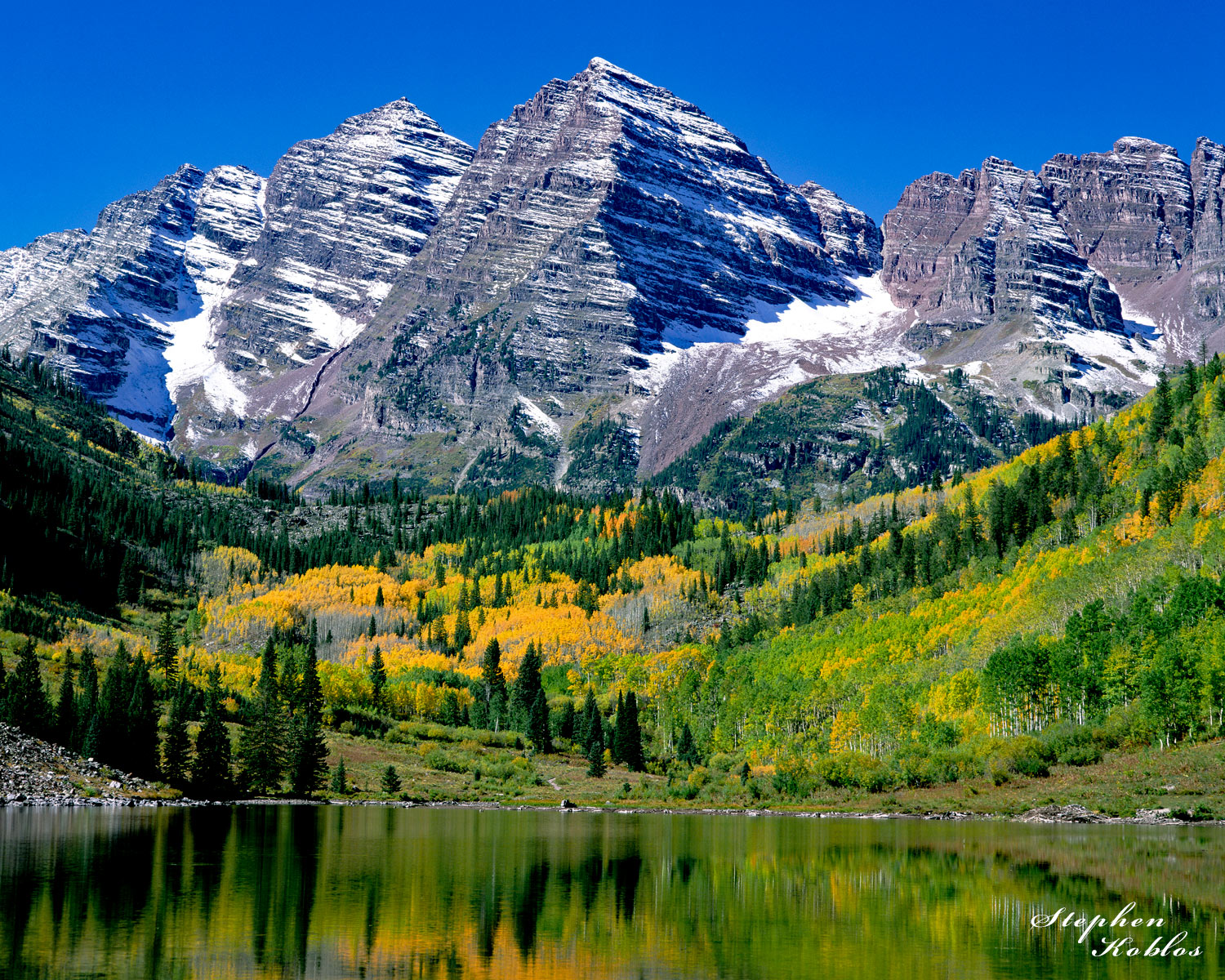 Maroon Bells in fall 2002  Limited Edition of 250