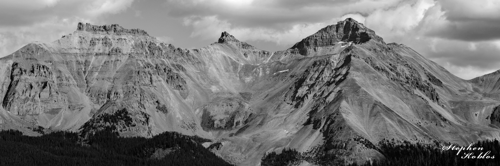 US Grant Peak, Piolet knob and Vermillion Peak. Limited Edition of 100