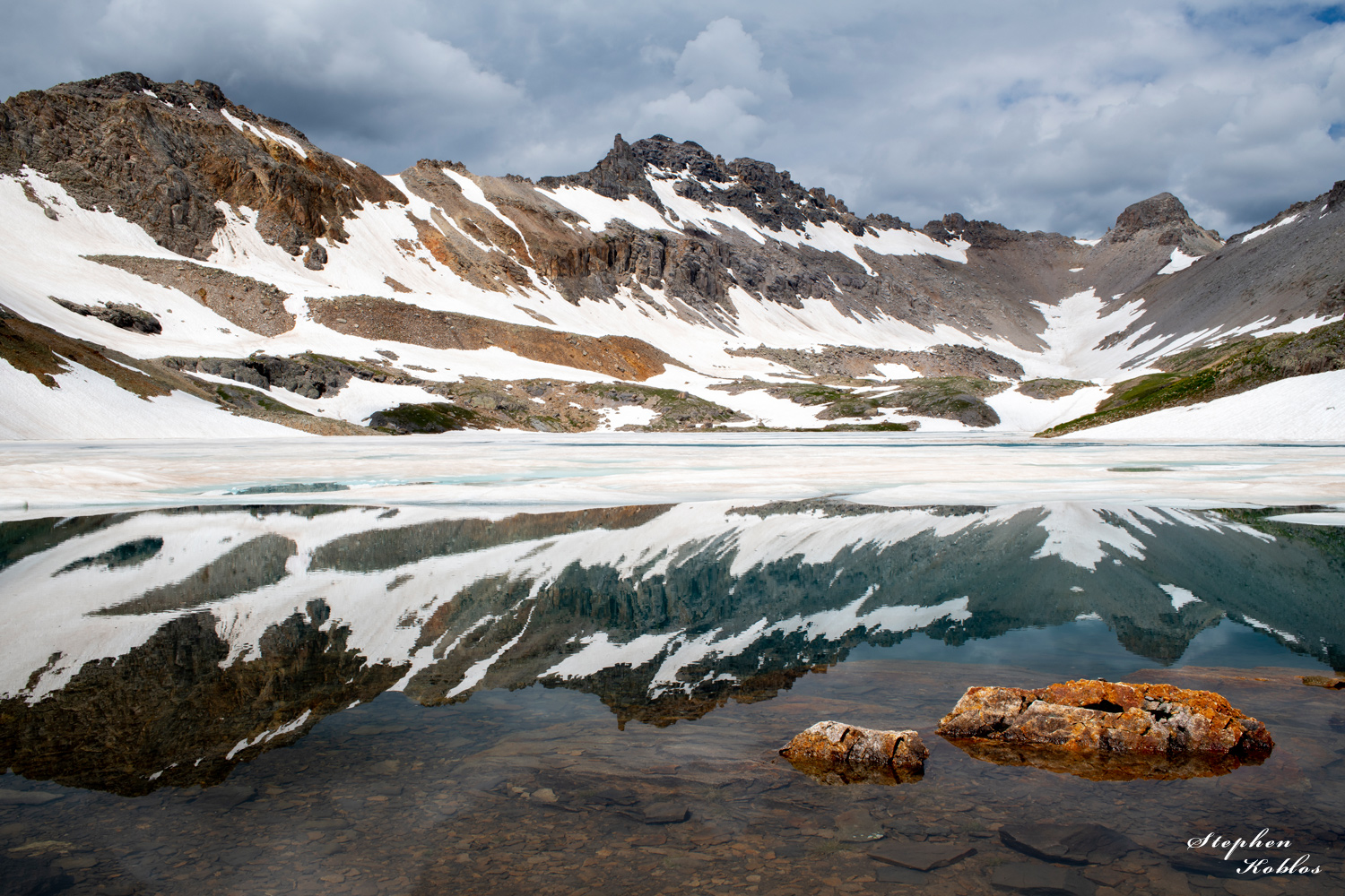Ice floating on Columbine Lake in august 2019.  Limited Edition of 100