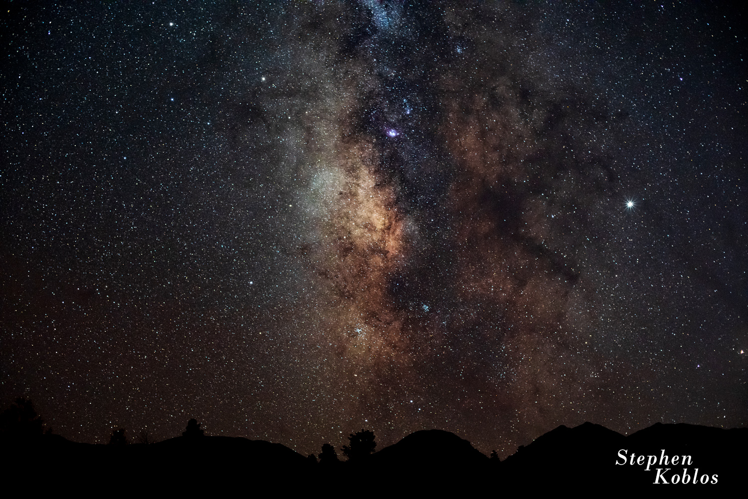 Milky Way above the San Isabel National Forest.   Limited Edition of 100