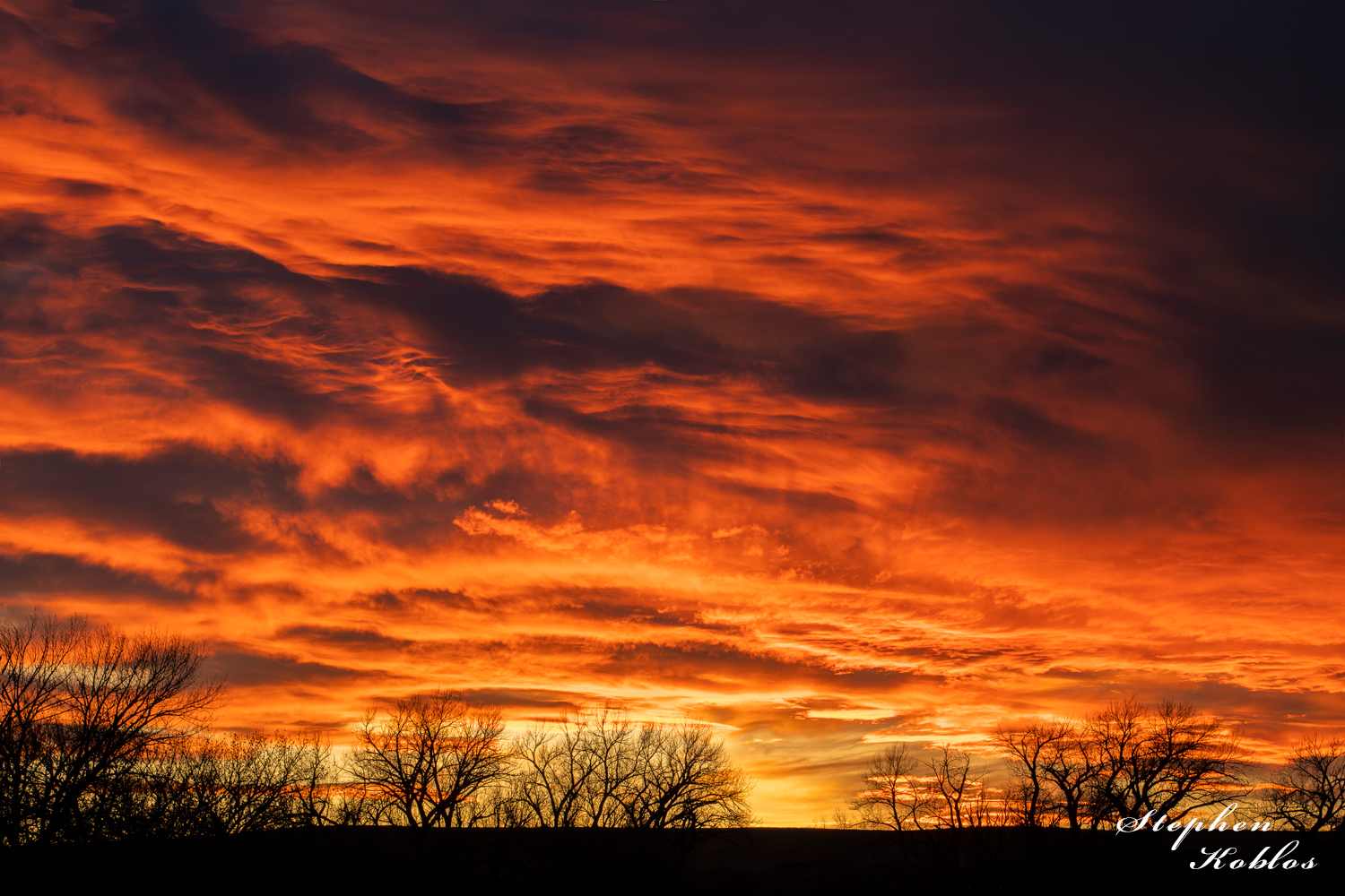 Sunset above the eastern plains. Limited Edition of 100