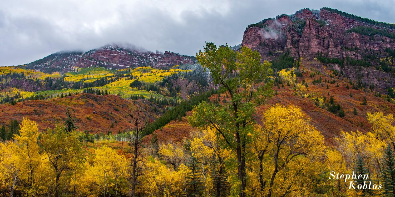 fall color, storm, Redstone, photo