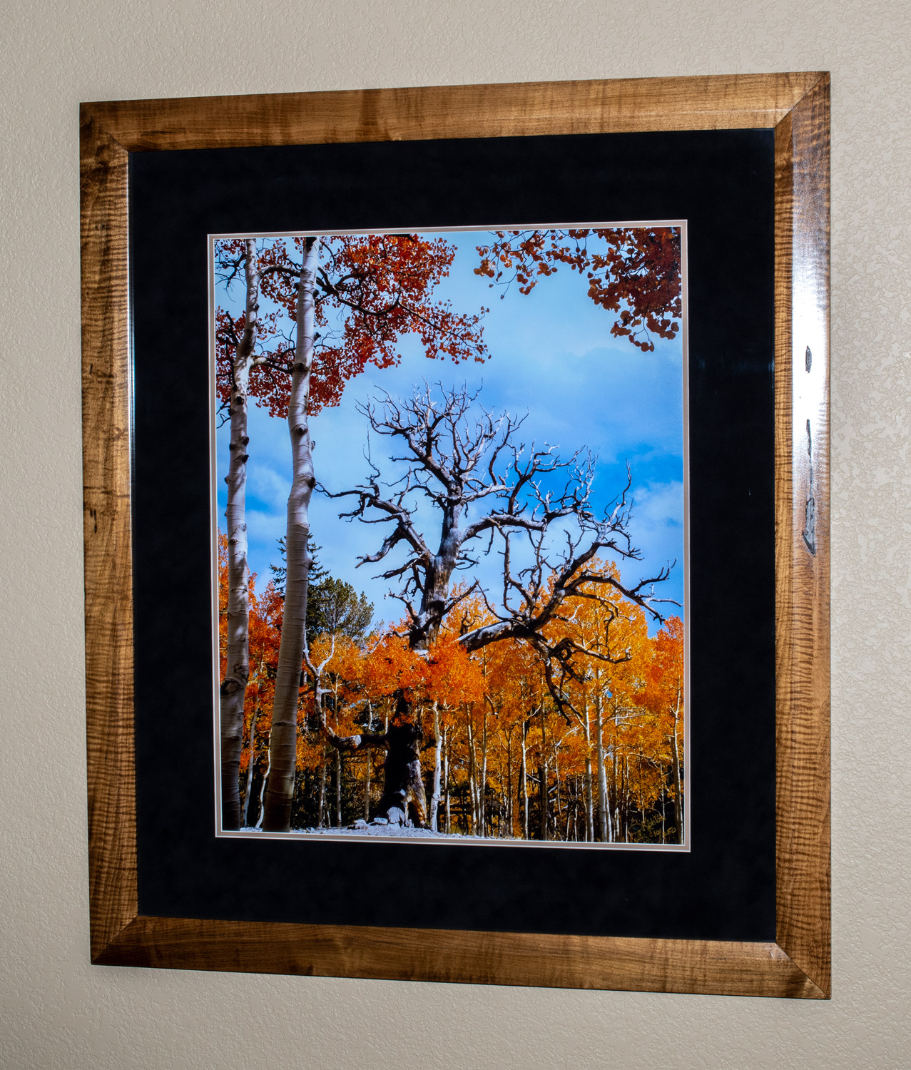 """The photo dimensions are 23""""x29"""". The frame dimensions are 36""""x43"""".I personally made this frame out of curly maple."""