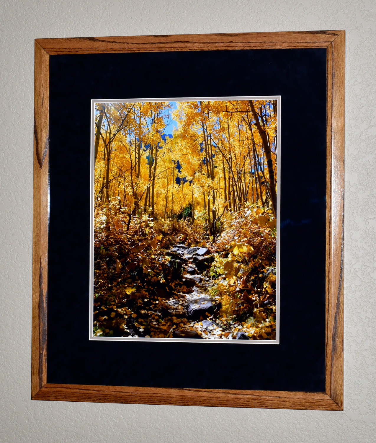 """The photo dimensions are 16""""x20"""". The frame dimensions are 26""""x30"""". I personally made this frame out of oak."""