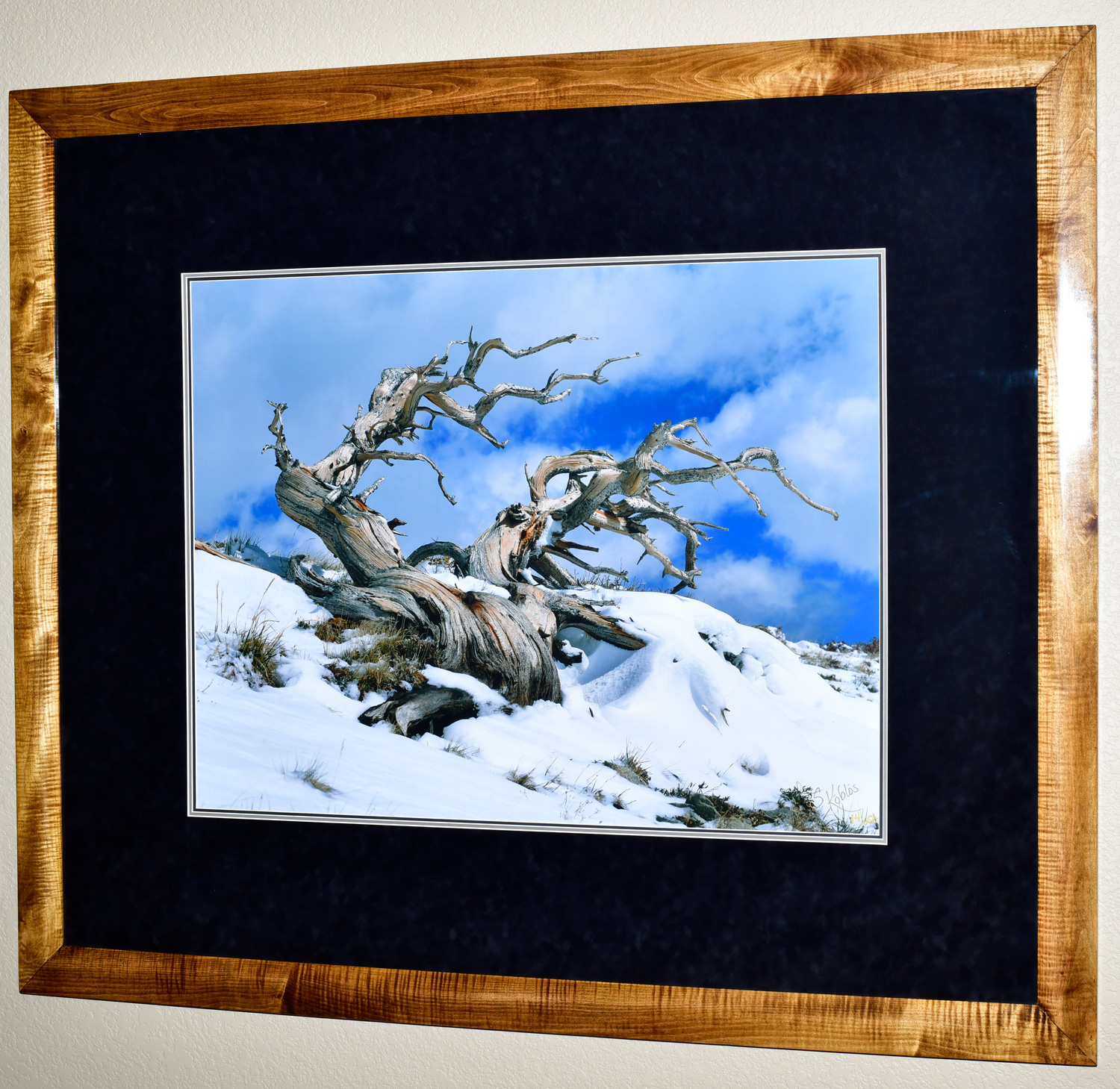 """The photo dimensions are 25""""x33"""". The frame dimensions are 44""""x52"""". I personally made this frame out of curly maple."""